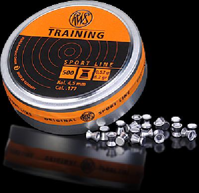 Pallino RWS TRAINING cal. 4,5 - 0,53 g BOX 10 TIN (5000pz)