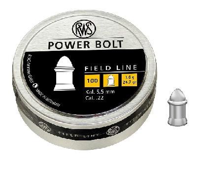 Pallino RWS POWER BOLT cal. 5,5/.22 - 1,60 g - confezione da 100 pz