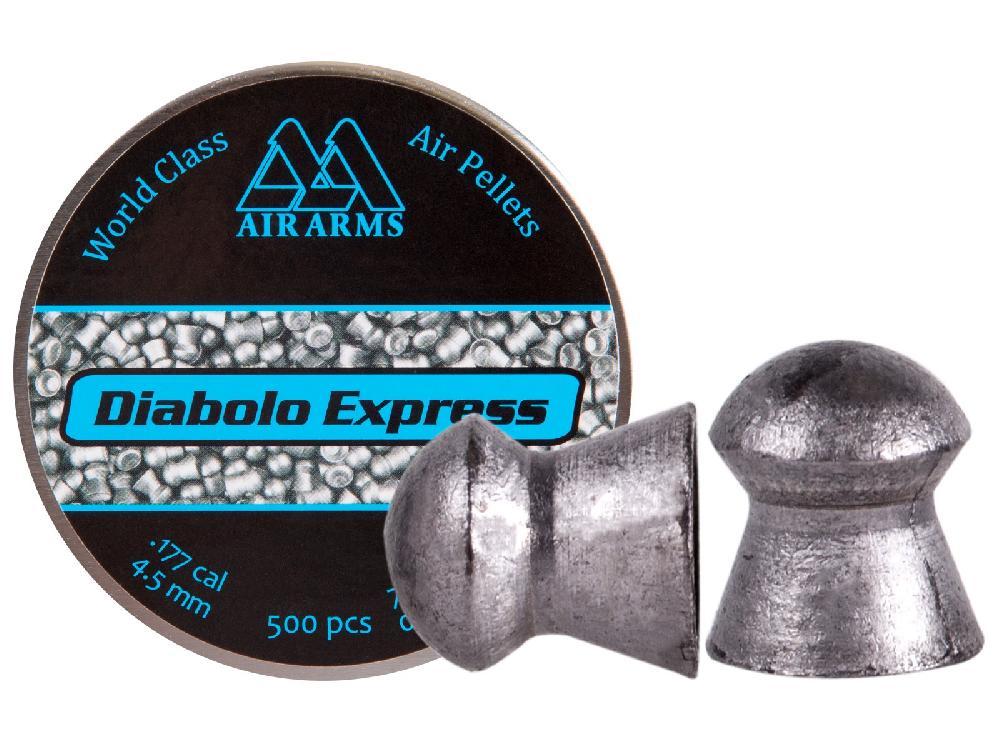Pallino Match flathead EXPRESS Air Arms 4,52 BOX 10 CONFEZIONI (5000 pz)